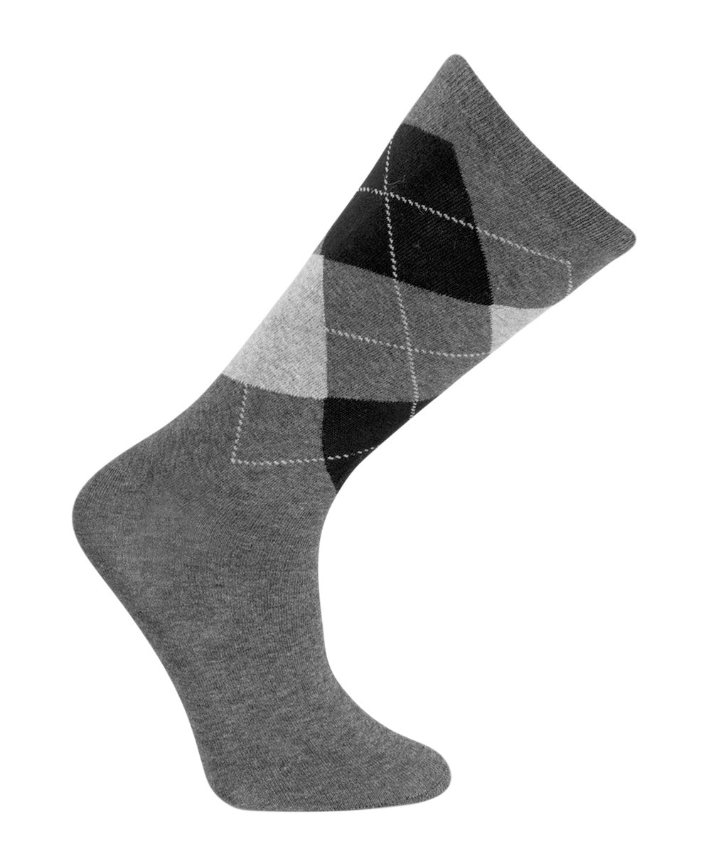 Argyle Cotton Crew Sock by Vagden - CLEARANCE 3PK