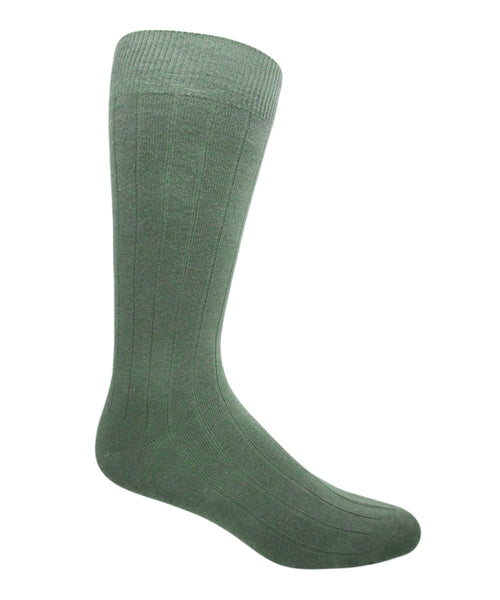 Vagden Men's Combed Cotton Ribbed Dress Sock (1 pair)