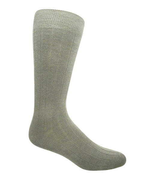 beige cotton ribbed socks