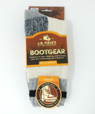 Blue cushioned boot sock cotton