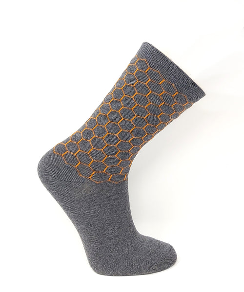 Vagden Women's Cotton Honeycomb Dress Sock
