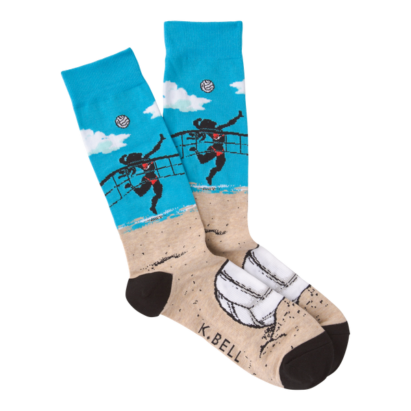 Men's Volleyball Crew Socks by K Bell