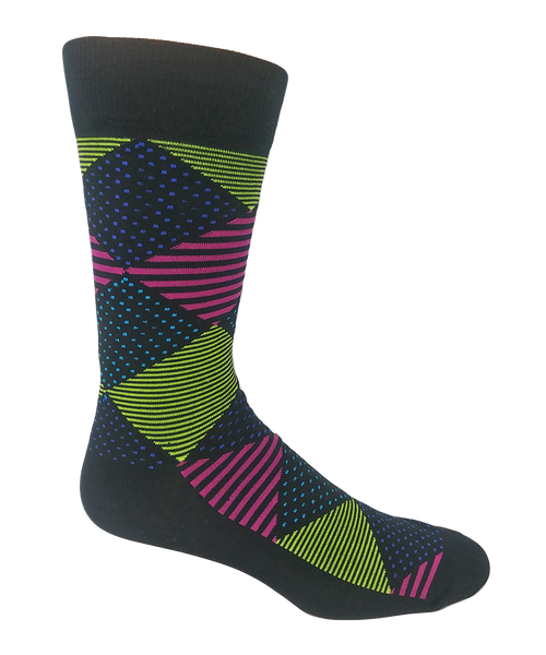 Men's Cotton Pattern Socks by Crazy Toes