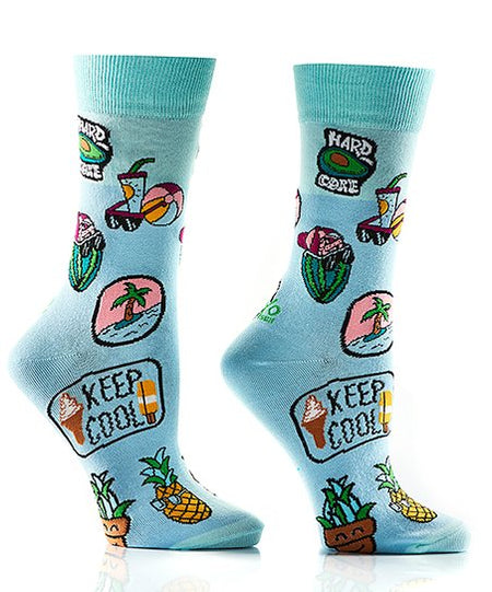 Men's Bacon Cotton Dress Crew Socks by YO Sox