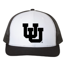 Load image into Gallery viewer, Black/White/Black Trucker Snapback