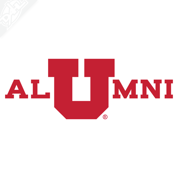 Alumni - In Block U Vinyl Decal