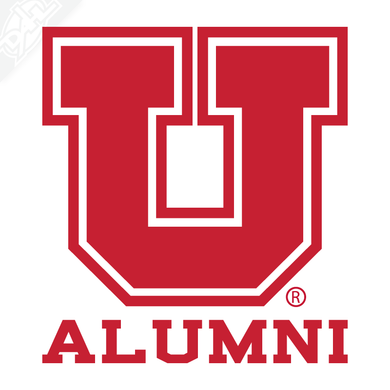 Alumni - Block U Outline Vinyl Decal