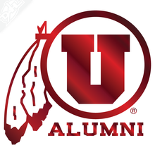 Load image into Gallery viewer, Alumni - Circle and Feather Vinyl Decal