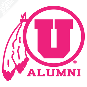 Alumni - Circle and Feather Vinyl Decal