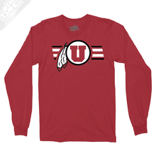 Circle and Feather w/Two color Utah Stripe - Long Sleeve