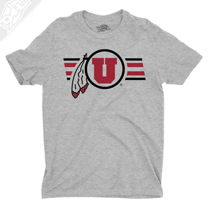 Circle and Feather w/Two color Utah Stripe - Boys T-Shirt