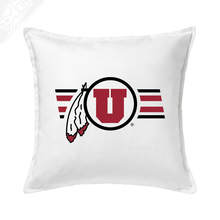 Circle and Feather w/Two color Utah Stripe - Pillow