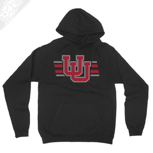 Interlocking UU w/Utah Strpe Two Colors - Hoodie