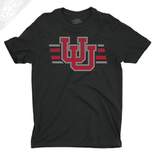 Load image into Gallery viewer, Interlocking UU w/Utah Strpe Two Colors - Boys T-Shirt
