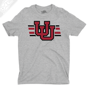 Interlocking UU w/Utah Strpe Two Colors - Boys T-Shirt