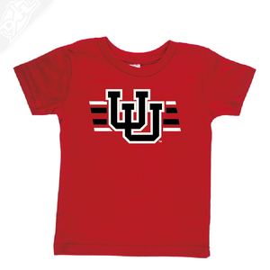 Interlocking UU w/Utah Strpe Two Colors - Infant/Toddler Shirt