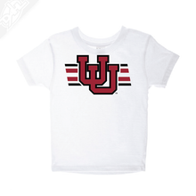 Load image into Gallery viewer, Interlocking UU w/Utah Strpe Two Colors - Infant/Toddler Shirt