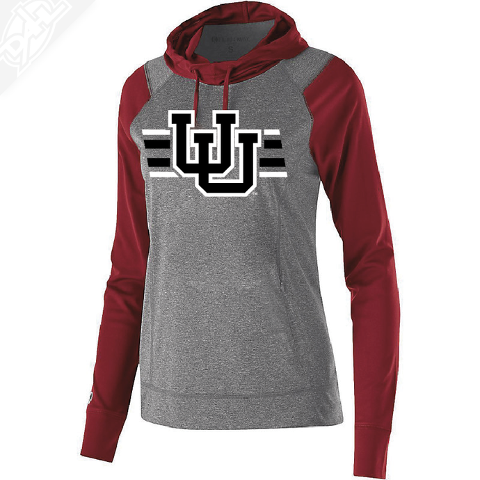 Interlocking UU w/Utah Strpe Two Colors - Womens Echo Hoodie