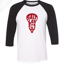 Load image into Gallery viewer, Salt LAX City Lacrosse - 3/4 Sleeve Baseball Shirt