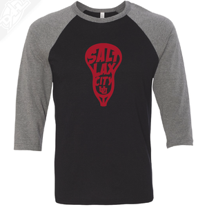 Salt LAX City Lacrosse - 3/4 Sleeve Baseball Shirt