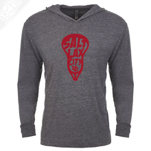 Load image into Gallery viewer, Salt LAX City Lacrosse - T-Shirt Hoodie