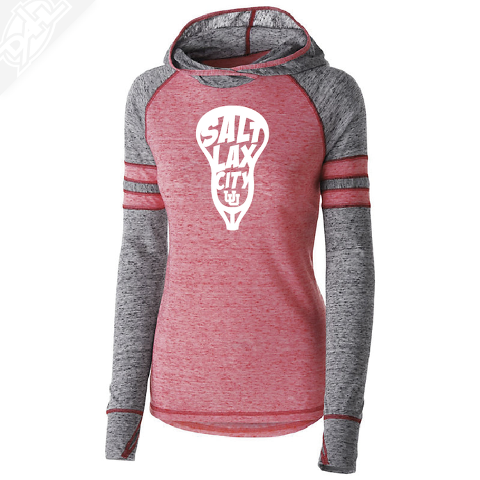 Salt LAX City Lacrosse - Womens Red Advocate Hoodie
