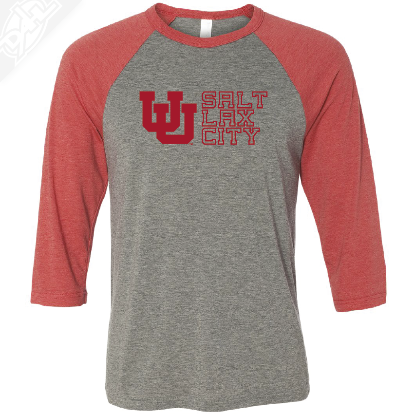 Interlocking UU Salt Lax City - 3/4 Sleeve Baseball Shirt