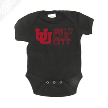 Load image into Gallery viewer, Interlocking UU Salt Lax City - Onesie