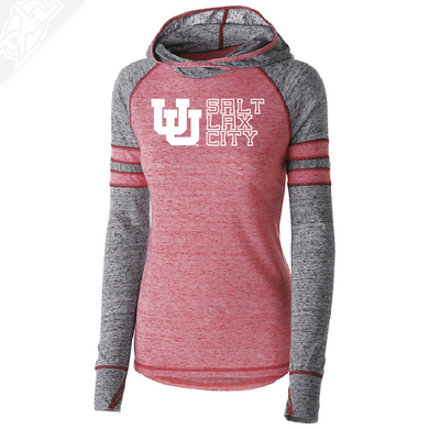 Interlocking UU Salt Lax City - Womens Red Advocate Hoodie