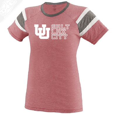 Interlocking UU Salt Lax City - Womens Fanatic Tee