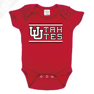 Interlocking UU Utah Utes - Onesie