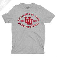 Load image into Gallery viewer, University of Utah Utes Football - Interlocking UU  - Boys T-Shirt