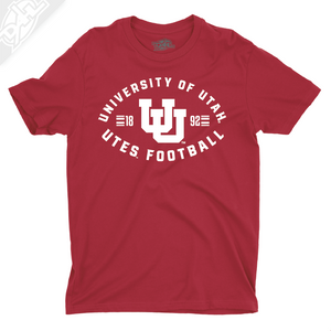 University of Utah Utes Football - Interlocking UU  - Boys T-Shirt