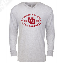 Load image into Gallery viewer, University of Utah Runnin' Utes Football - Interlocking UU  - T-Shirt Hoodie