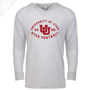 University of Utah Runnin' Utes Football - Interlocking UU  - T-Shirt Hoodie