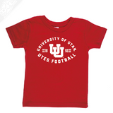 University of Utah Runnin' Utes Football - Interlocking UU  - Infant/Toddler Shirt