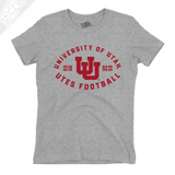 University of Utah Utes Football - Interlocking UU  - Girls T-Shirt