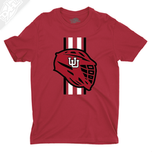 Load image into Gallery viewer, Lacrosse w/Utah Stripe - Boys T-Shirt