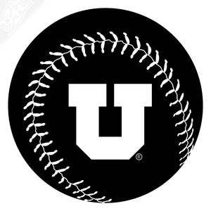 Block U Baseball Vinyl Decal