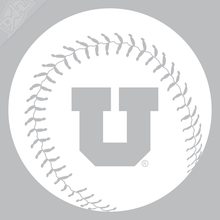 Load image into Gallery viewer, Block U Baseball Vinyl Decal