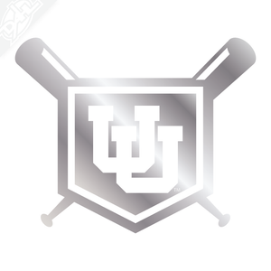 Interlocking UU Baseball Vinyl Decal