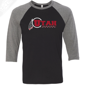 Utah Basketball Throwback - 3/4 Sleeve Baseball Shirt