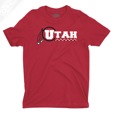 Utah Basketball Throwback - Mens T-Shirt
