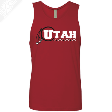 Utah Basketball Throwback- Mens Tank Top
