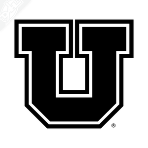 Block U Outlined Vinyl Decal