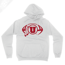 Load image into Gallery viewer, Circle and Feather Football Single Color - Hoodie