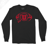 Circle and Feather Football Single Color - Long Sleeve