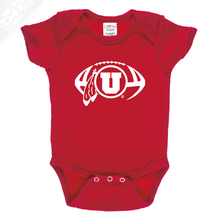Load image into Gallery viewer, Circle and Feather Football Single Color - Onesie