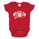 Circle and Feather Football Single Color - Onesie