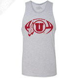 Circle and Feather Football Single Color- Mens Tank Top